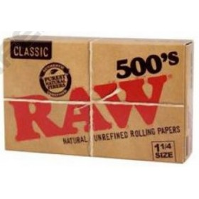 PAPEL RAW 1 1/4 500. RAW  *