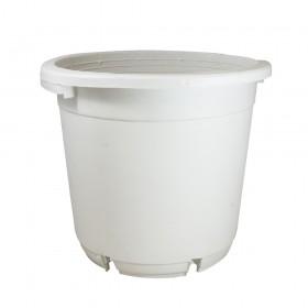 Maceta blanca redonda 30L  *
