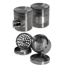 Grinder de aluminio gris, 4...